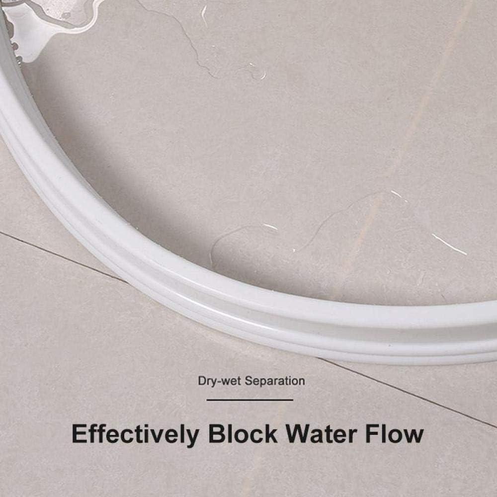 Root of all evil 30Mm H/öhe Badewasserstopper Wasseraufteilung Trocken Und Nassabtrennung Flutschutz Gummidamm Silikonwasserblocker Nicht Verrutschen-Freier Raum/_150Cm