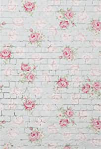 Rose 8x10 FT Backdrop Photographers,Old Fashioned Pattern Feminine Romantic Bouquets Corsage on Dotted Backdrop Background for Child Baby Shower Photo Vinyl Studio Prop Photobooth Photoshoot