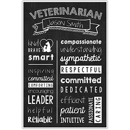 Veterinarian Chalkboard Wall Art –Veterinarian Graduate Gift – Veterinarian Appreciation Personalized (Personalized Chalkboard)