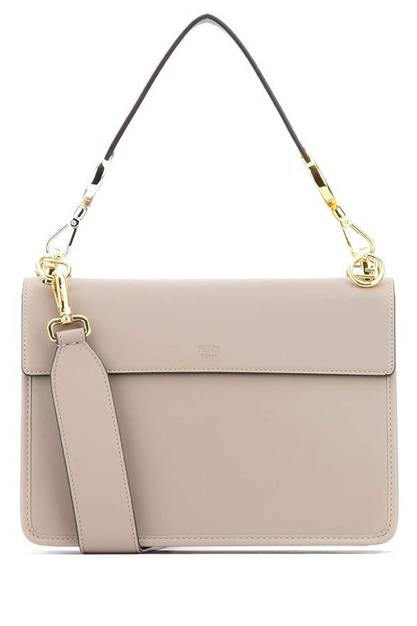 537dbd7d4c Fendi Women's 8Bt2842ihf0e65 Grey/Pink Leather Shoulder Bag: Amazon.co.uk:  Clothing