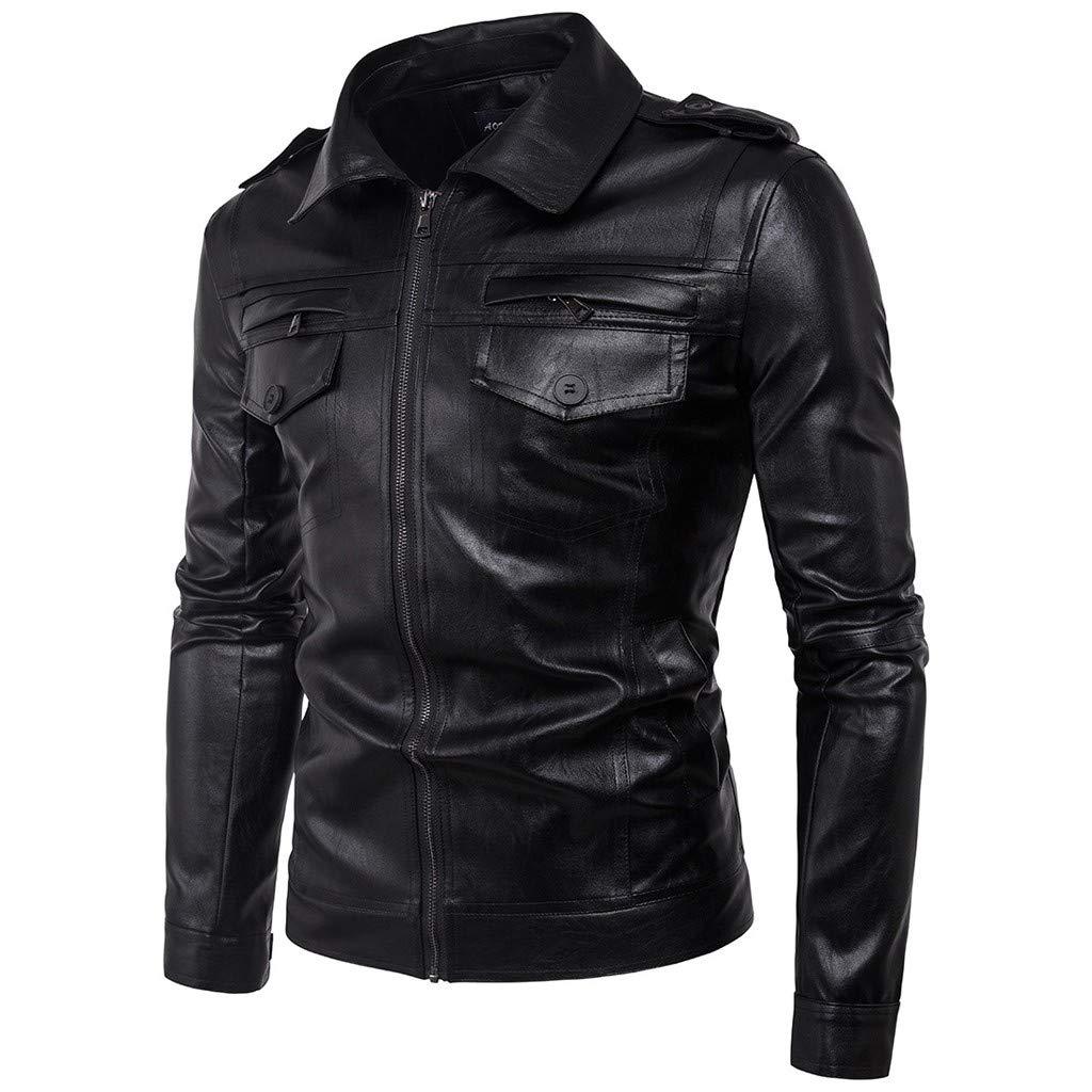 Men Leather Jacket Slim Fit Biker Motorcycle Genuine Lambskin Jacket T727