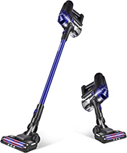 DEENKEE Cordless Vacuum Cleaner, 17Kpa Powerful Suction 200W Brushless Motor 2 in 1 Lightweight Stick Handheld Vacuum for Home Hard Floor Carpet Car Pet …