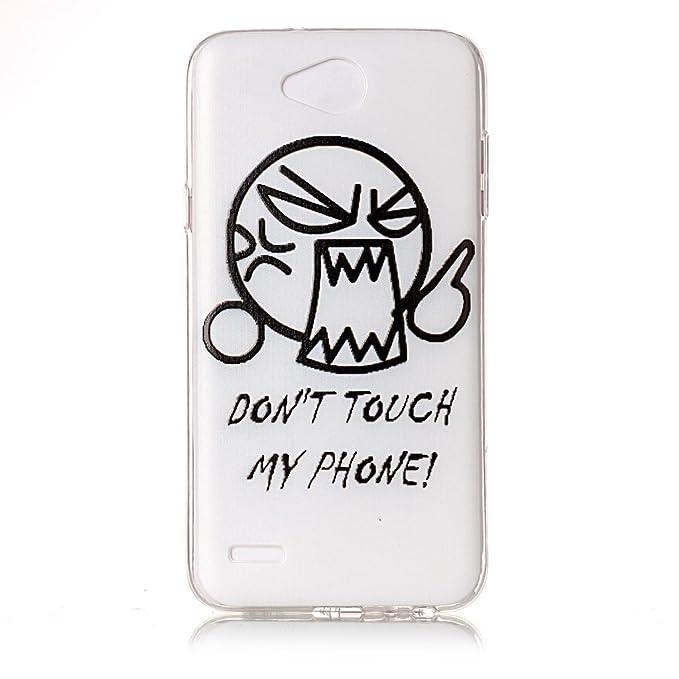 3 opinioni per IJIA Custodia per LG X Power 2 Trasparente Pazzo Face (Don't Touch My Phone) TPU