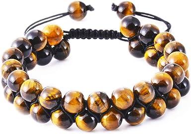 Tiger eye lava stone bracelets for men and women beaded bracelets black brown bracelets gemstone bracelets