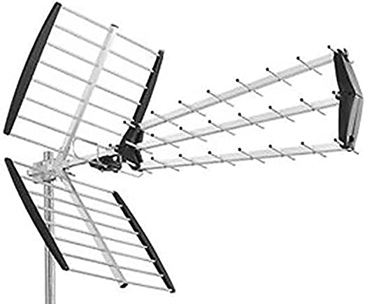 Antena de TV UHF DVB-T Digital Exterior 28 DB HD 43 ...