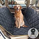 F-color Dog Car Seat Covers, Waterproof Anti-Slip Dog Hammock Car Back Seat Cover for SUV Truck with Seat Belt Openings, A Bonus Pet Seatbelt, Washable and Durable, Black Review