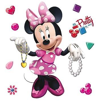 Amazon.de: AG Design Disney Minnie Maus Kinderzimmer Wand Sticker ...