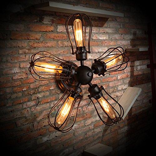 BLYC- Alte Eisen kreative Cafe Restaurant Wandlampe, Lampe für leuchtenden industrielle Wind Dekoration lange Deckenleuchte 500 * 500mm