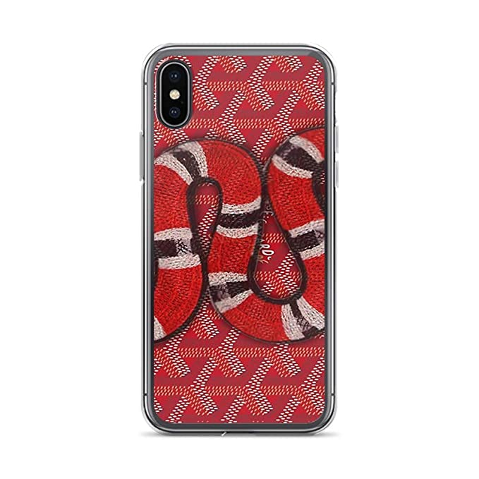 timeless design 48c3e 890b9 Amazon.com: iPhone Xs Max Pure Clear Case Cases Cover Snake goyard ...
