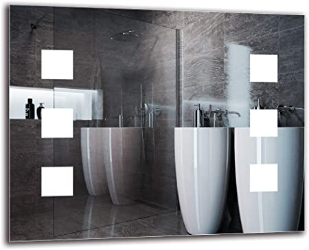 Pronto per Essere Appeso Specchio con Illuminazione Bianco Caldo 3000K ARTTOR M1CP-03-40x40 Specchio a Muro Specchio LED Premium Dimensioni dello Specchio 40x40 cm Specchio per Bagno