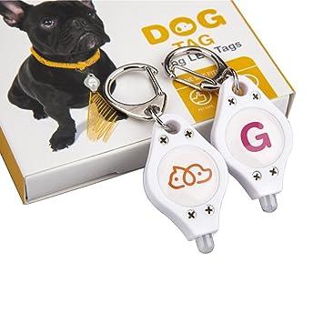 Petphabet el mejor ABC de correa de perro/collar LED etiqueta de ...