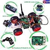 SunFounder Model Car kit Video Camera for Raspberry Pi 3/2/B+/B RC Servo Motor Remote Control Robotics Electronic Toys Game Kids App Detail Manual(Not Included Raspberry Pi)