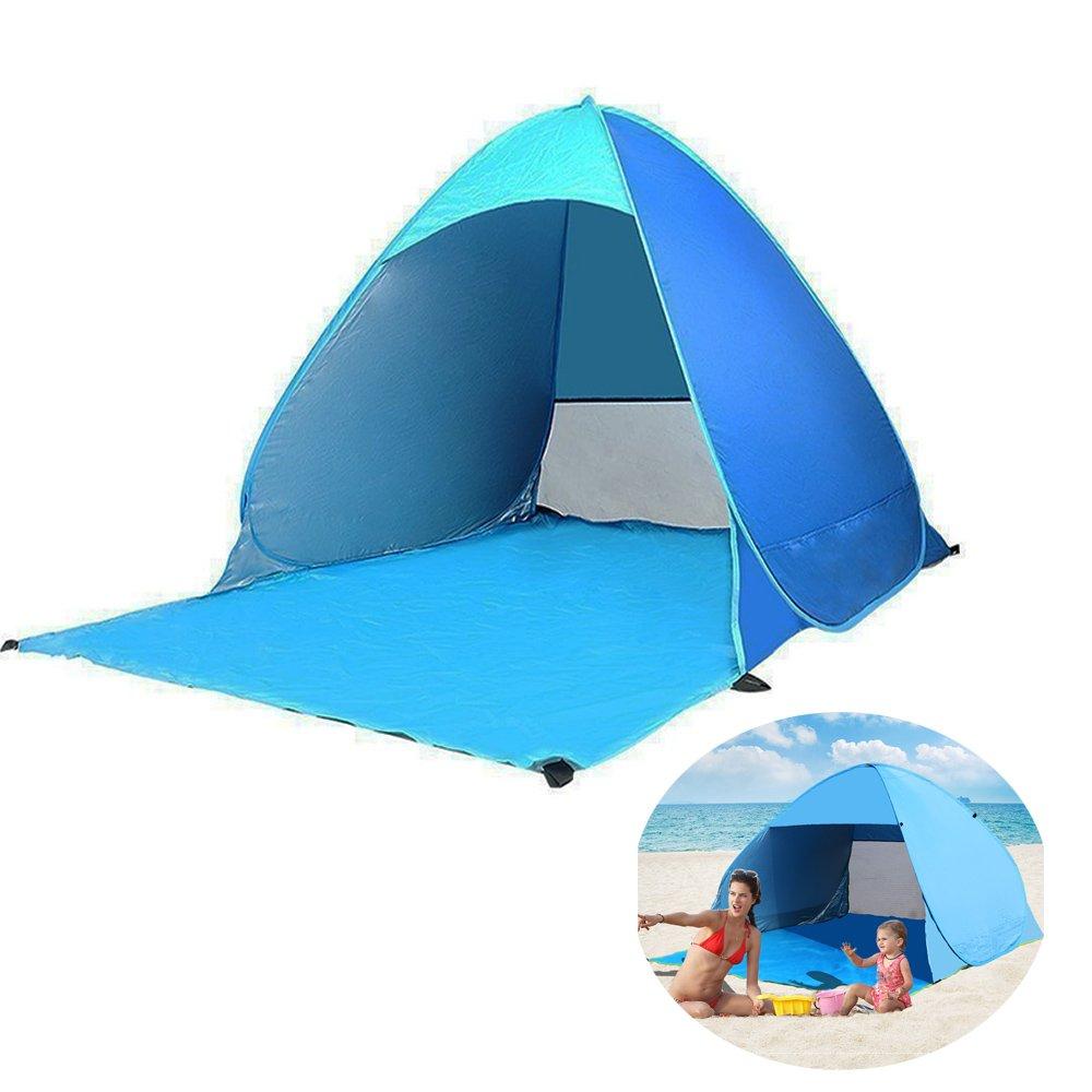 Automatische Pop Up Tragbare Zelt Im Freien Freien Im Zelt für Camping / Strand / Hof Schnell Öffnen Zelt Cabana Sun Shelter SPF 50+ da9d37