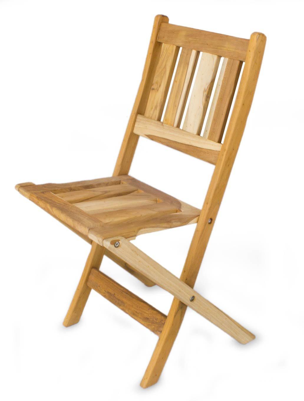 NOVICA Teakwood Folding Chairs, 37'' Tall, Brown, 'Mexican Sierra'