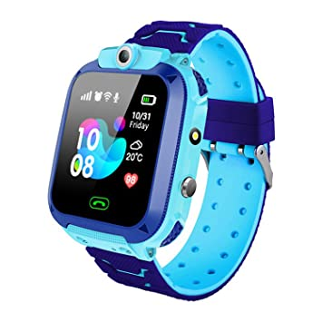 QUDADA Kids Smart Watch Phone Waterproof,LBS Tracker Watch Phone with SOS Voice Chat Camera Flashlight Smart Watch for 3-12 Years Old Boys Girls ...