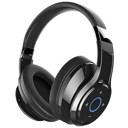 Auriculares Bluetooth sobre el oído, Auriculares Bluetooth inalámbricos con micrófono, Auriculares inalámbricos suaves con