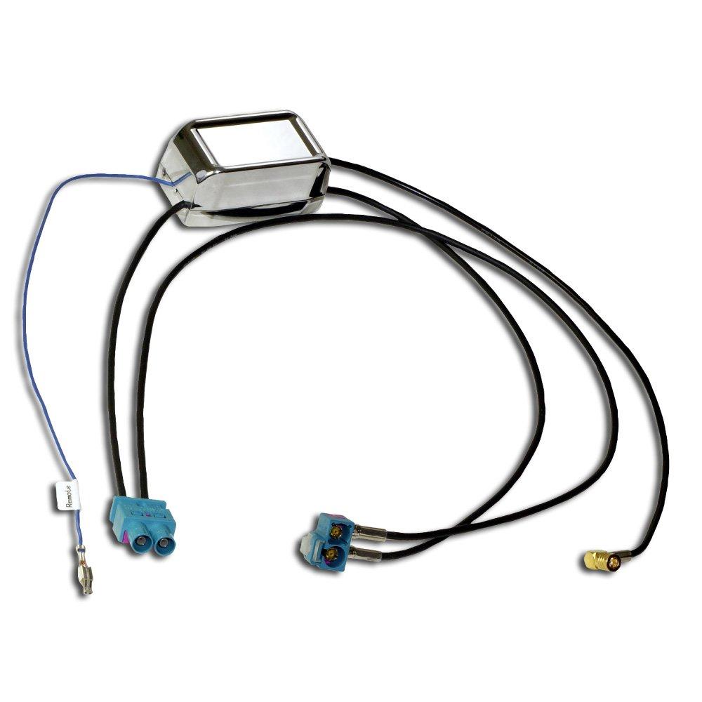 DAB + et FM Antenne Répartiteur antenne pour les véhicule de VW, Skoda et Seat; pour raccordement de DAB + Radio ou systèmes GPS Antenne à Diversity; PAS besoin DAB + antenne supplémentaire morebasics CAR