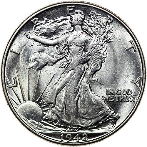 1942 Walking Liberty Half Dollar About Uncirculated