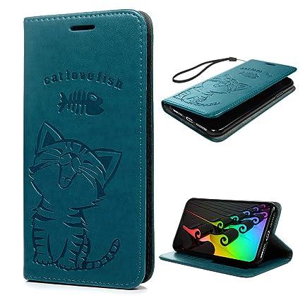 "iPhone Xs Max Case 6.5"", Wallet Flip Folio Case Magnetic Smart Closure Kickstand Card"