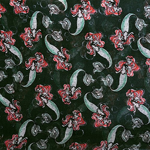Echarpe Arielle Disney fleurs motif allover noir