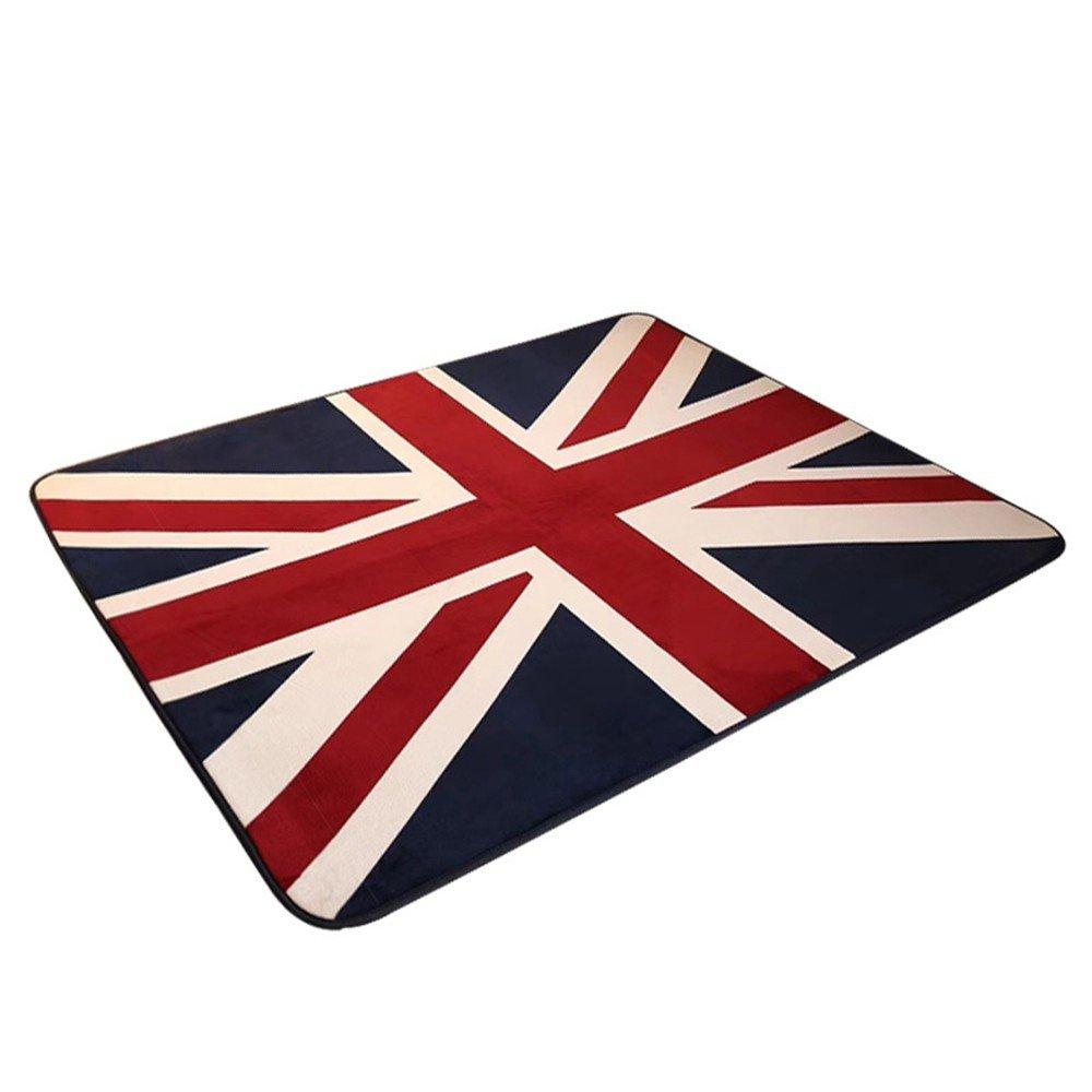60 MinegRong r/étro /épaissir Tapis British British Drapeau Anglais Character Salon Tapis de Table de Chevet Chambre /à Coucher Tapis,Couverture 40