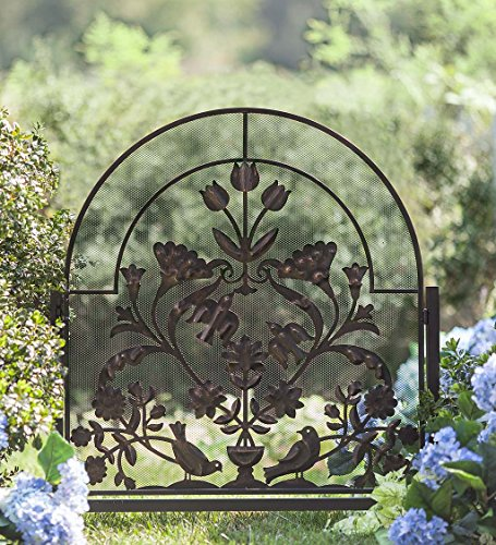 Ansley Folk Art Garden Gate, 36 W x 1.25 D x 48 H by Plow & Hearth