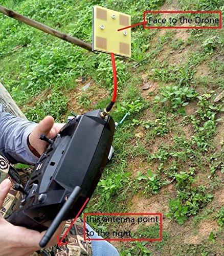 MonkeyJack Enhanced FPV Antenna Kit 5.8Ghz 14dBi Panel SMA Antenna 2.4GHz 3dBi SMA Antenna SMA to IPEX Cable for Hubsan H501S H502S