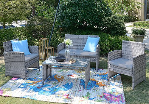 Light Colored Wicker Outdoor Furniture in Florida - 1