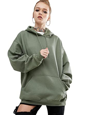 matchlife damen lange sweatshirts pulli hoodie oversize  bekleidung damen sweatshirt c 1_18 #12