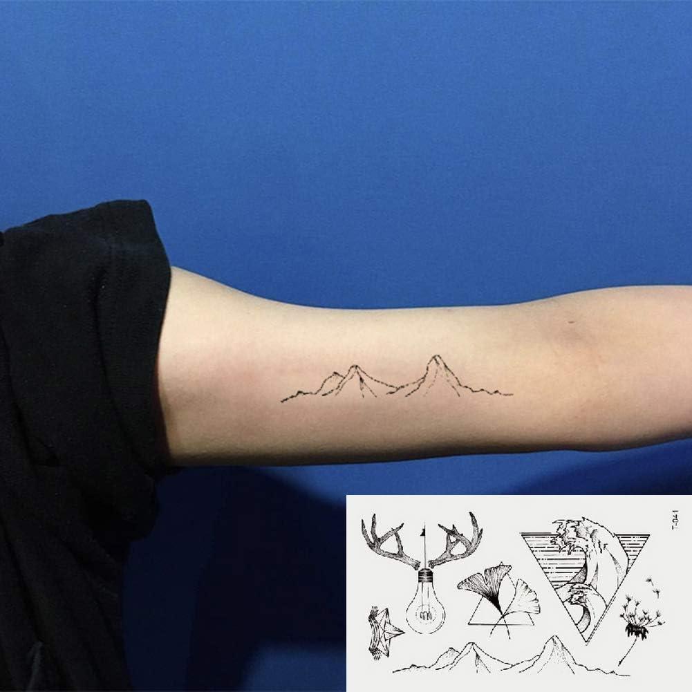 Oottati 2 Hojas Pequeño Lindo Tatuaje Temporal Tattoo Bulbo De ...