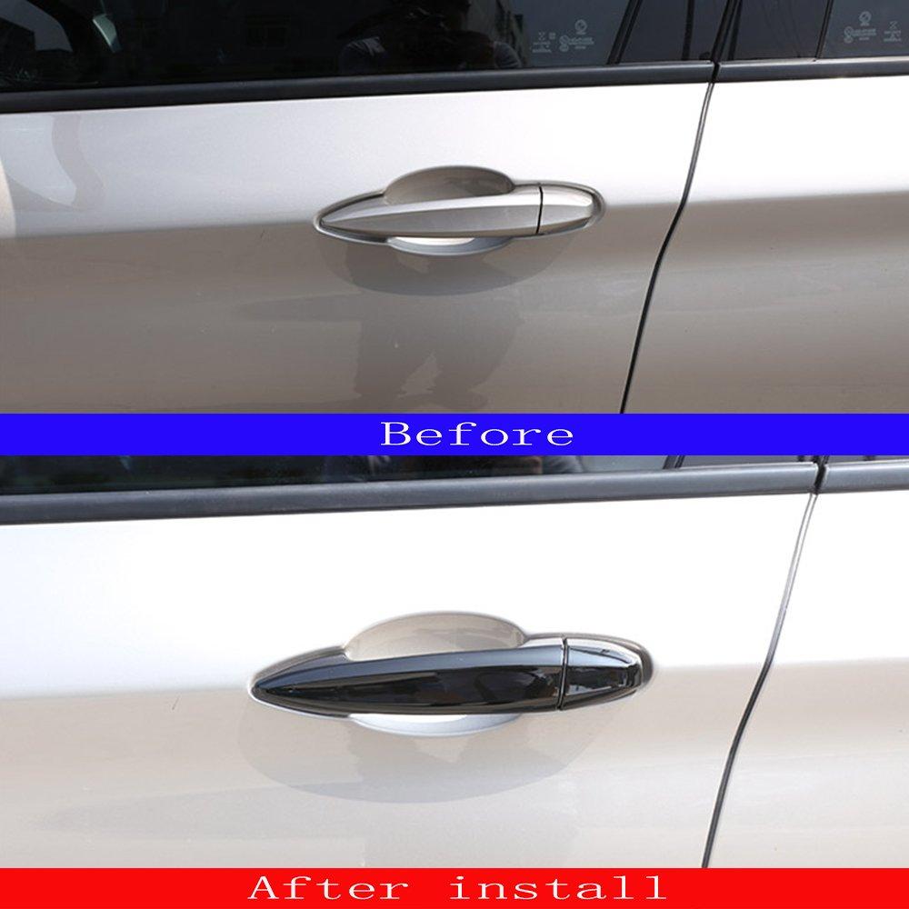 Chrome Silver For X1 F48 2016//18 2 series 218i Gran Tourer F46 2015-2017 Door Handle Trim ABS Chrome Sticker Accessories 8pcs