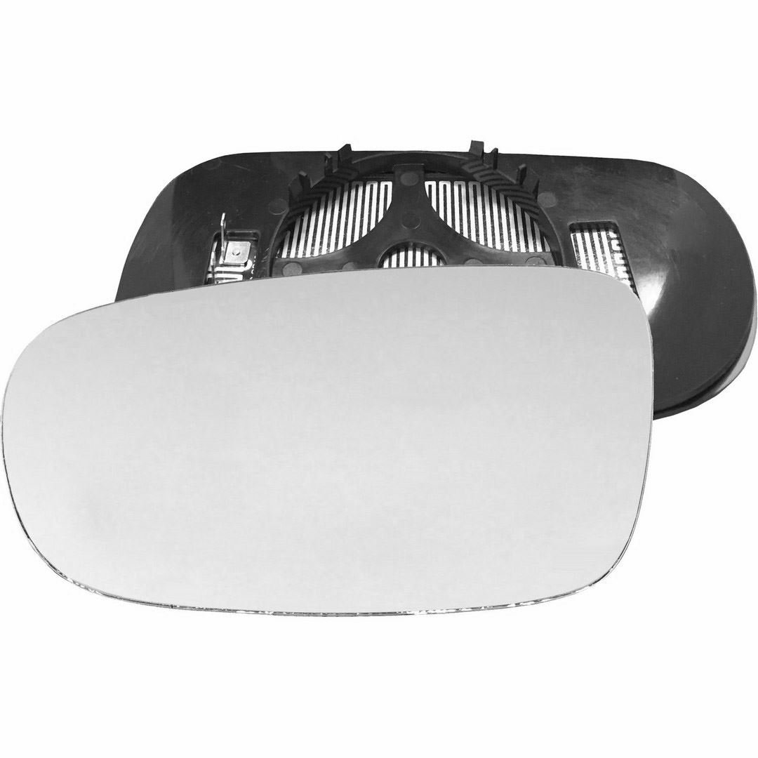 Passenger left hand side Heated wing door Silver mirror glass with backing plate #C-SHY//L-SB9503 Clip On