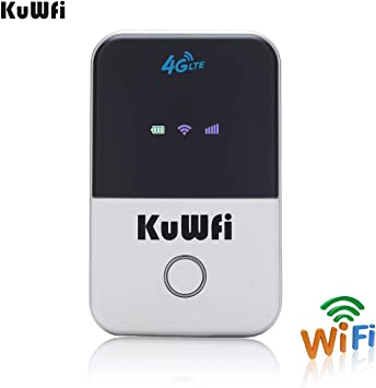 Amazon.com: Compañero de viaje kuwfi Wireless Pocket 4 G ...