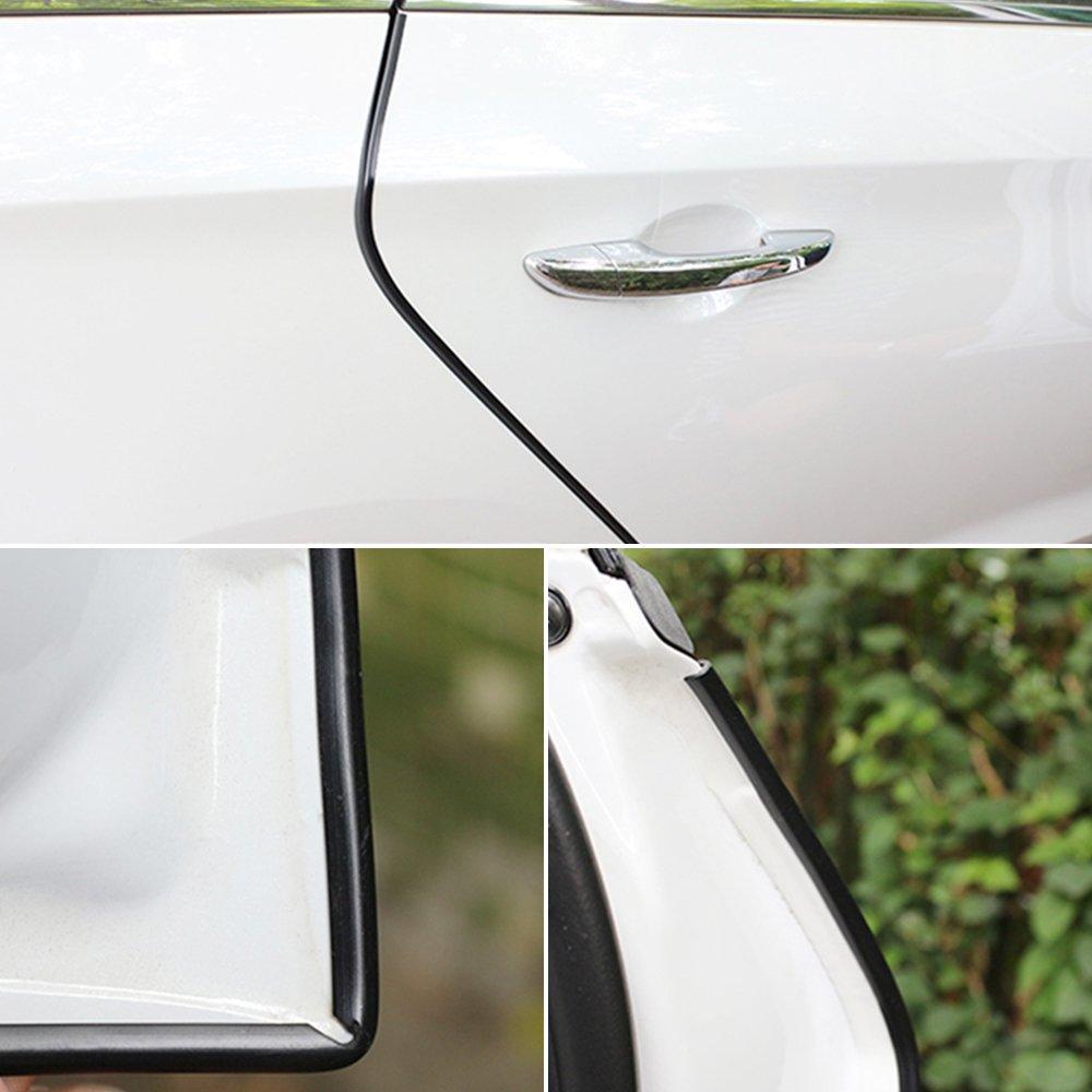 Welcomefee 10M//32ft Car Door Edge Guard U Shape Rubber Edging Protector Strip Car Door Seal Trim Strip for Car Mental Edges Boat