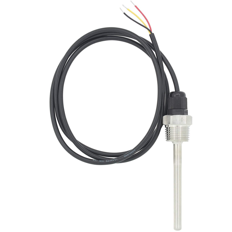 1//2 pollice 7mm Pt100 sensori di temperatura con pozzetto inox termocoppia 30 50 100 150 200 300 400 500mm 30mm