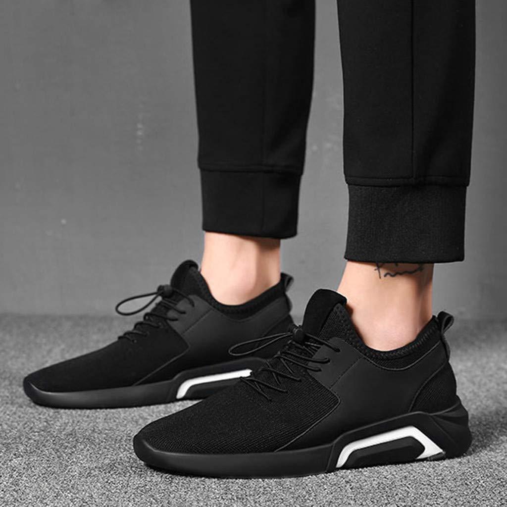 Sameno All White の Sock Sneakers for Men Slip Resistant Running Shoes Black Ultralight Mesh Walking Shoes Size 7-10