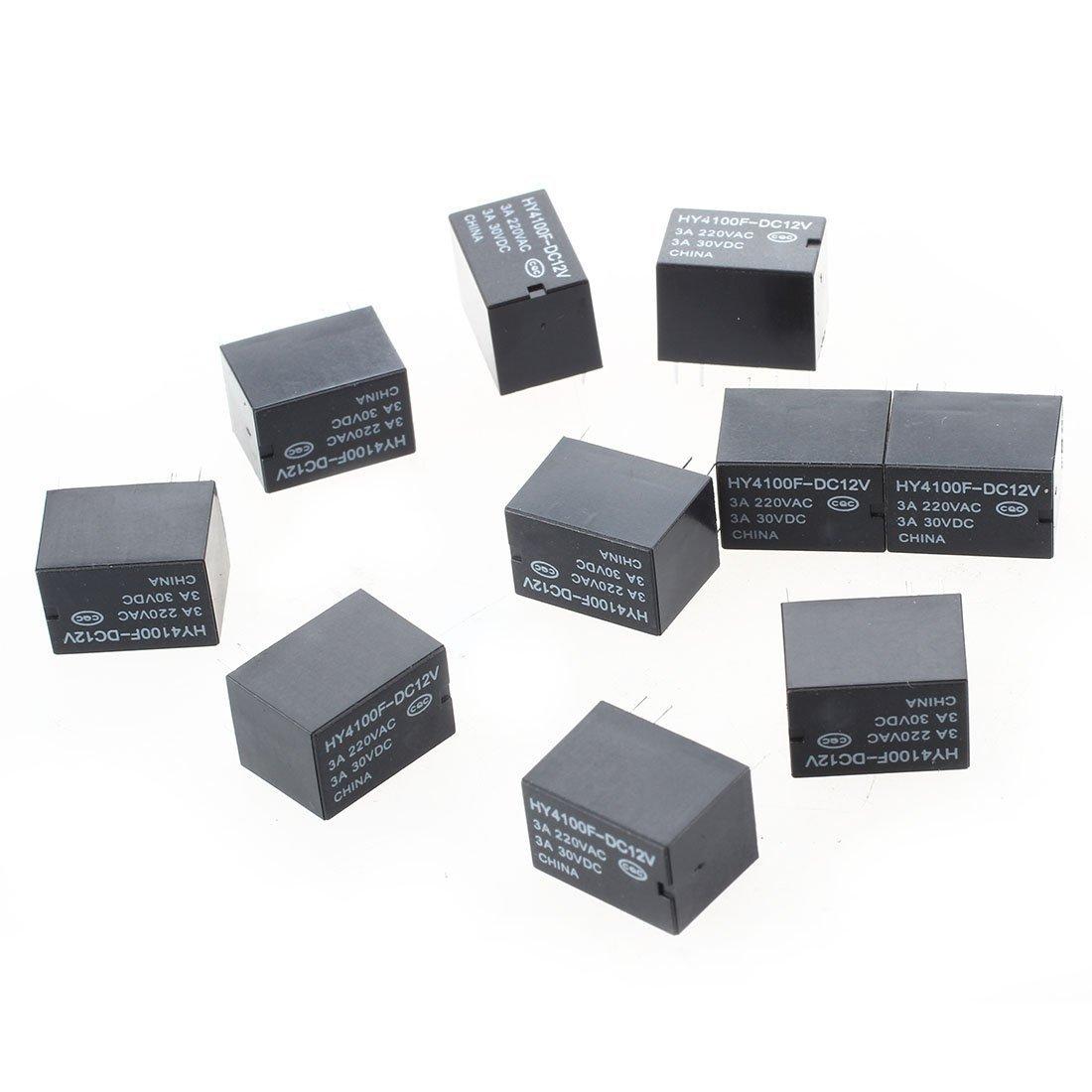 R TOOGOO 10pcs Mini electronique Relais de puissance DC12V