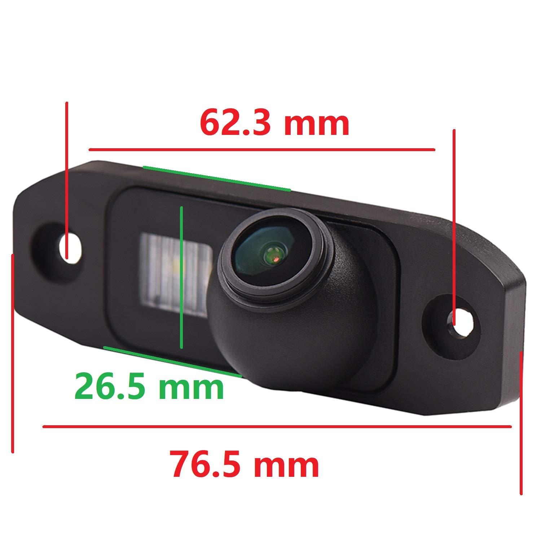 HD 1280x720p Farbkamera Wasserdicht R/ückfahrkamera kennzeichenbeleuchtung Kamera KFZ R/ückfahrsystem mit Einparkhilfe Nachtsicht f/ür Volvo S90//S80L//S40//S80 V60//XC90//XC60 C30//C70//S60//V40R V50// XC70