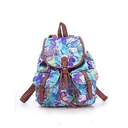 0617f989c7 WINOMO Ragazze Ladies Womens con coulisse tela zaino zaino scuola borsa  Casual Borsa zainetto: Amazon.it: Fai da te