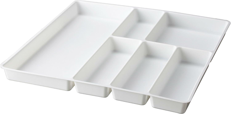 CJSSSS cucchiaio contenitore per ricevimenti porta stoviglie in plastica per cassetti organizzatore classificato divisorio Blu bacchette telescopiche espandibile per cassetto della cucina Vassoio portaposate 3 in 1