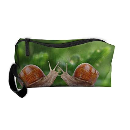 166dcc9075db Amazon.com: Two Snails Next to Dew Pattern Makeup Bag Calico Girl ...