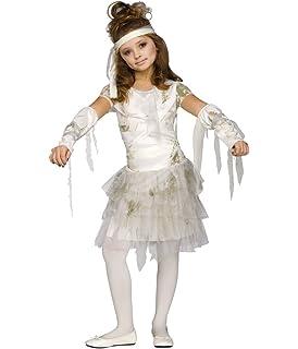 Tutu Mummy Child Girls White Costume Footless Tights Fancy Dress Funworld