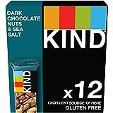 Kind Dark Chocolate Nuts & Sea Salt Nut Bars, 12 X 40G Multipack - Gluten Free – 60% Nuts