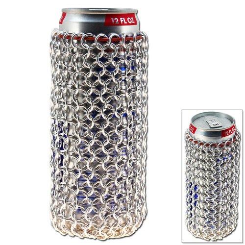 Swordsaxe Chainmail Soda Can Sleeve - Lightweight Aluminum