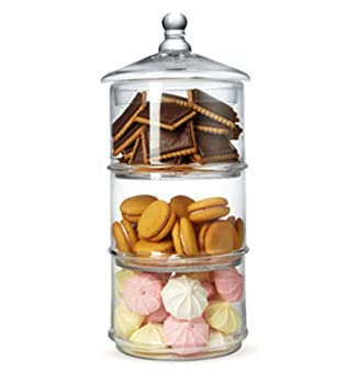 MyGift Round Glass Cookie Jars