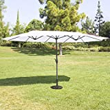 Best Choice Products 15' Outdoor Umbrella Double-Sided Aluminum Market Patio Umbrella with Crank