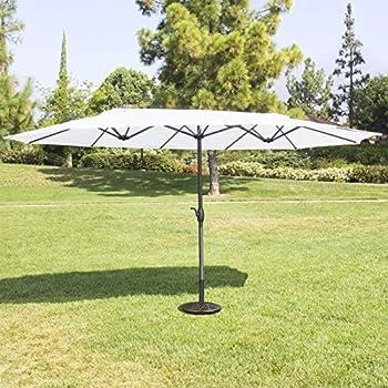 Best Choice Products 15u0027 Twin Patio Umbrella Canopy