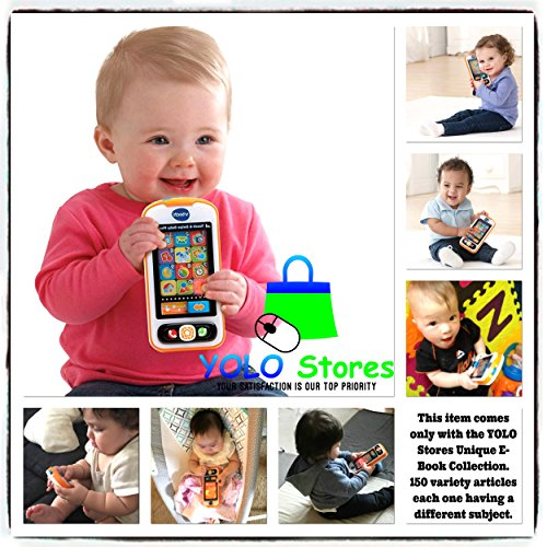 Talking Cell Phone Toy - Baby Toys Smart Phone Mobile Cell Kids cellphone Activity Swipe Game Pretend Talking & Playing By YOLO Stores