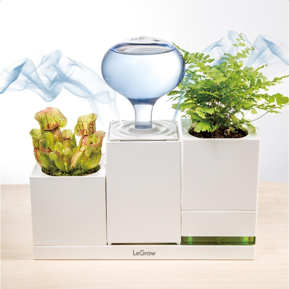 LeGrow Indoor Garden Kit Humidifier and Power with Smart Switch 2 Watering Gardening Pots Automatically Shut Off Watering Smart Garden Growing System Home Office