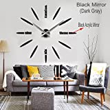 Max3 Luxury DIY 3d Wall Clock Home Decoration Mirrors Surface Large Size Art 12S012